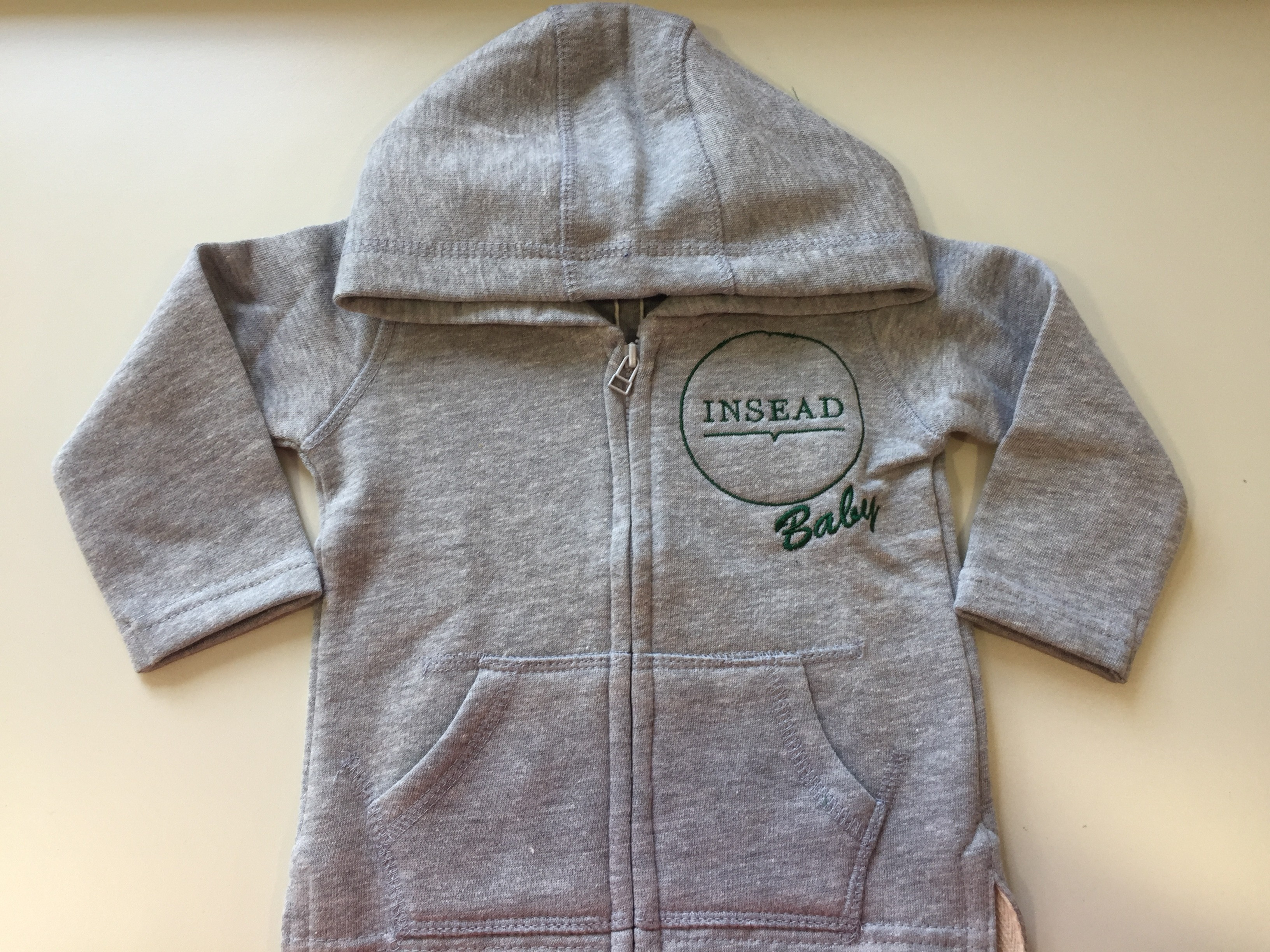 BABY HOODED SWEATSHIRT ZIPPERED