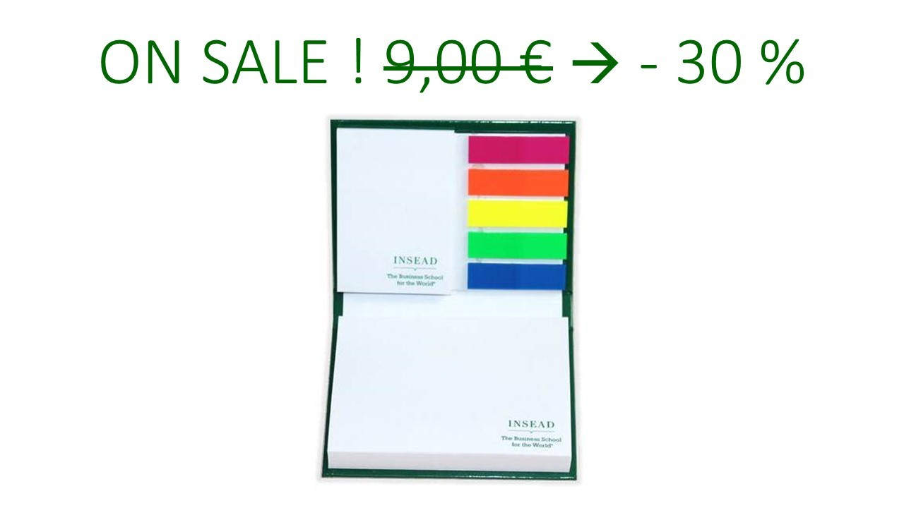 INSEAD POST-IT NOTE BOOK