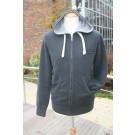 MEN'S HOODED SWEATSHIRT ZIPPERED VINTAGE