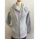 WOMEN'S HOODED SWEATSHIRT ZIPPERED