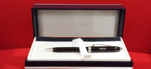 CROSS BLACK LACQUER/RHODIUM PLATED BALLPOINT PEN